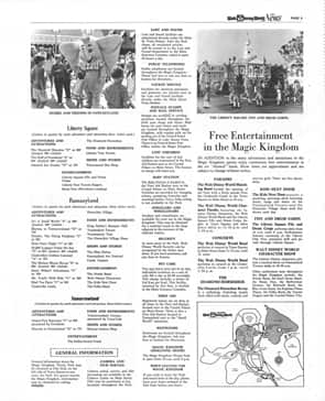 Pages from 'The Walt Disney World News,' Magic Kingdom's First Park Map