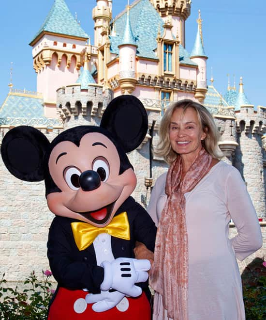 Jessica Lange Meets Mickey Mouse at Disneyland Park