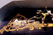 Goofy on the Stern of the Disney Magic