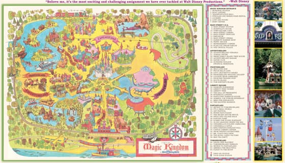 Walt Disney World – 40th Anniversary Map | Disney Parks Blog on