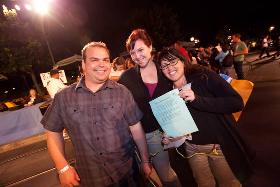 Minnie's Moonlit Madness Team (Left to Right): Kevin, Allison and Lacey