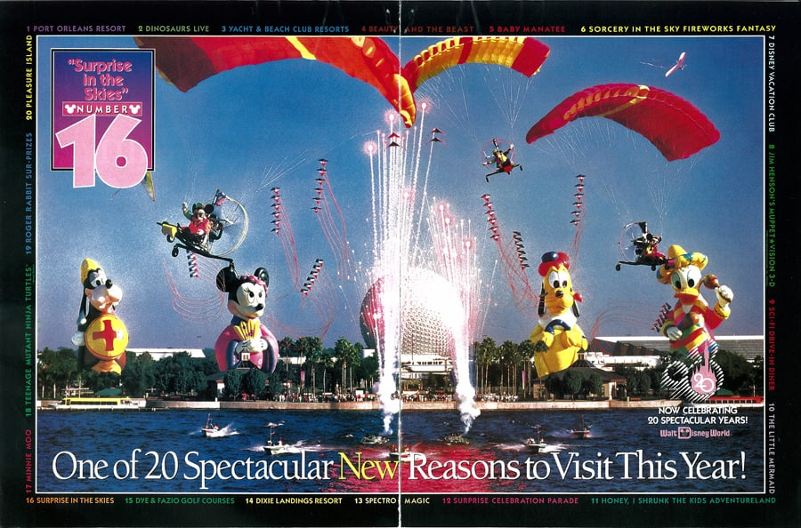 0137ce1e53ca63 Magazine Advertisement Featuring  Surprise in the Skies  at Epcot