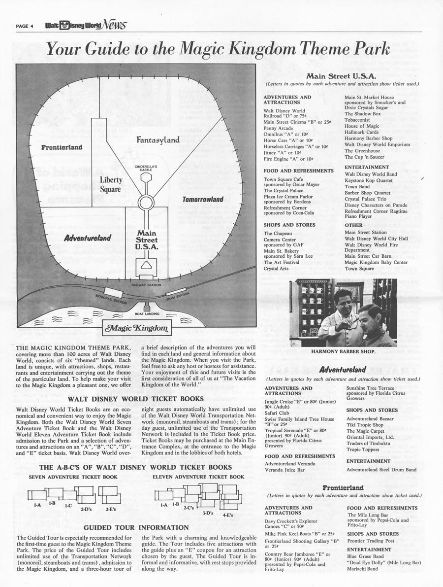 Finding Your Way Around Magic Kingdom Park, 40 Years Ago | Disney ...