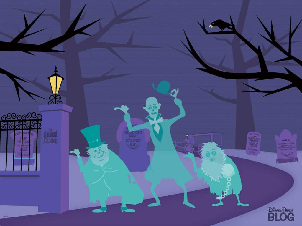 Want An Early Halloween Treat From Disney Parks Download Our Haunted Mansion Wallpaper Disney Parks Blog