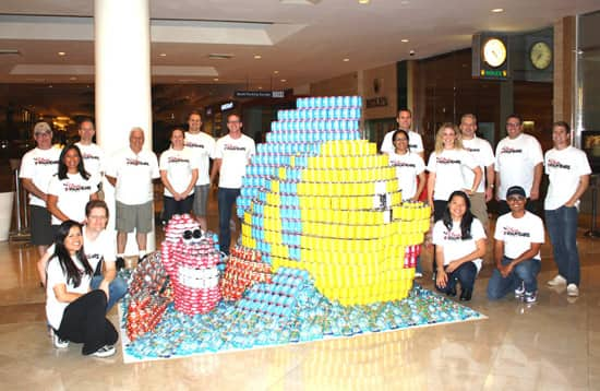 Disney VoluntEARS Participate in CANstruction Competition