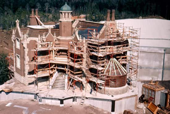 The Haunted Mansion While it was Still Under Construction on February 24, 1971