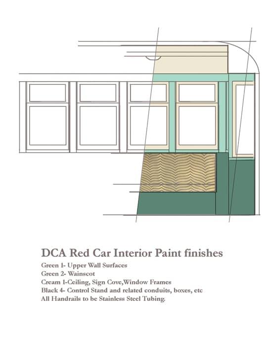 Red Car Trolley Interior Designs at Disney California Adventure Park