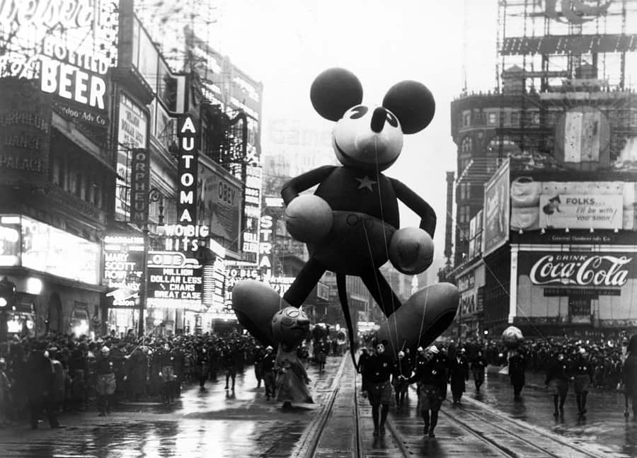 Mickey Mouse Makes His Debut At The Macys Thanksgiving Day Parade In New York City
