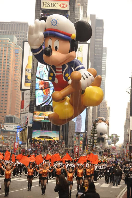 Sailor Mickey Debuts in the Macy's Thanksgiving Day Parade, 2009 and 2010 (Courtesy of Getty Images)