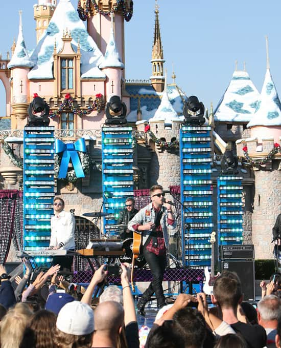 OneRepublic Performs in Front of Sleeping Beauty Castle at Disneyland Park