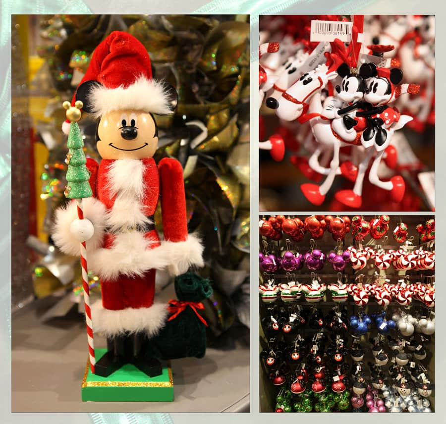 mickey mouse nutcracker mickey and minnie mouse riding a reindeer and more disney ornaments - Disney Christmas Decorations