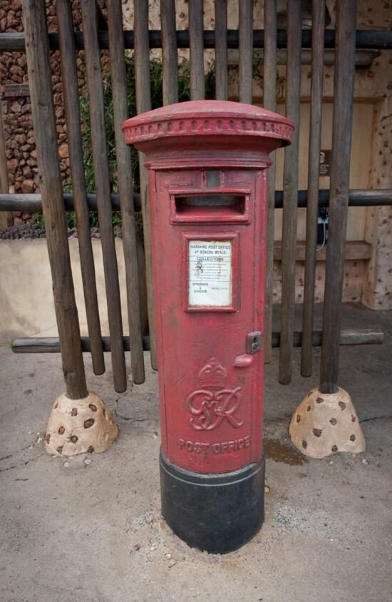 Harambe Post Office Drop Box at Disney's Animal Kingdom