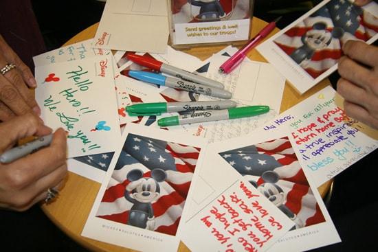 Disney Cast Members Pen Postcards of Thanks to U.S. Troops