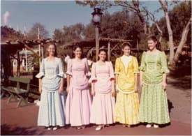 Costumes Worn by Women in New Orleans Square at Disneyland Park in the 1970s