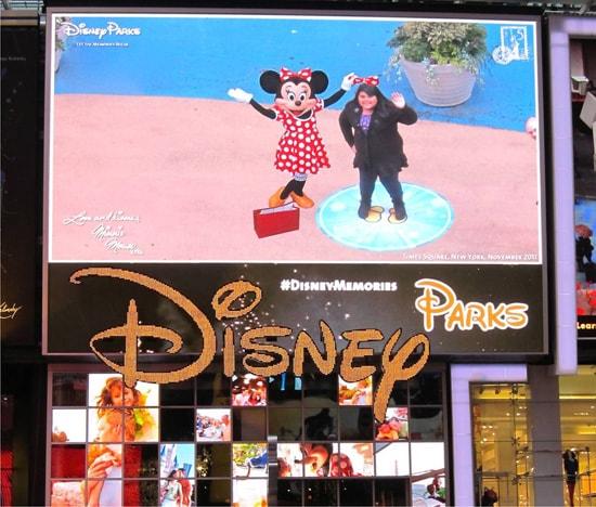 Disney Characters Make Virtual Memories in Times Square