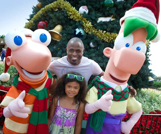 Phineas and Ferb with Emmy Award-Winning Entertainer Wayne Brady and His Daughter Maile