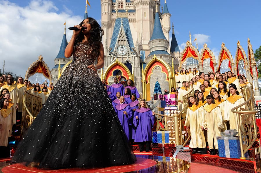 jennifer hudson performs a holiday medley at magic kingdom park
