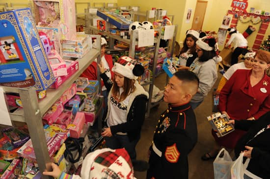Disney VoluntEARS Deliver Toys to the U.S. Marine Corps Reserve's Central Florida Toys for Tots Headquarters