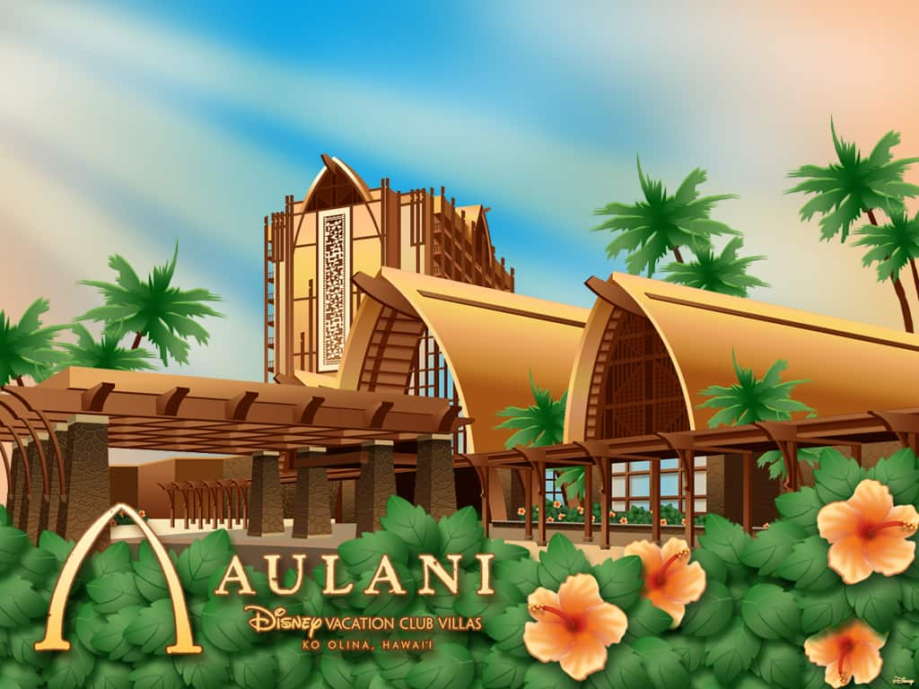 Desktop Wallpaper Featuring Aulani, Disney Vacation Club Villas, Ko Olina, Hawai'i