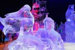 'The Little Mermaid' Ice Sculpture, Featured in the Interpretation of Disneyland Paris Enchanted Christmas for the 10th International Snow & Ice Sculpture Festival in Bruges, Belgium