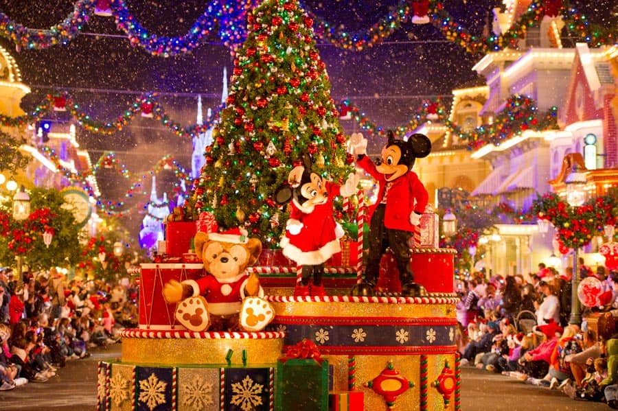 minnie mouse mickey mouse and duffy the disney bear at mickeys very merry christmas party