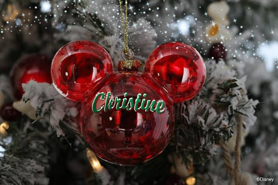 Personalized Mickey Mouse Ornament from Disney Floral & Gifts Create Holiday Memories for You and Your Family