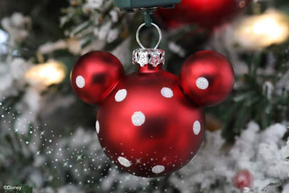 mickey mouse ornament for your christmas tree available from disney floral - Disney Themed Christmas Decorations