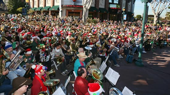 TUBACHRISTMAS Performs in Downtown Disney District at the Disneyland Resort