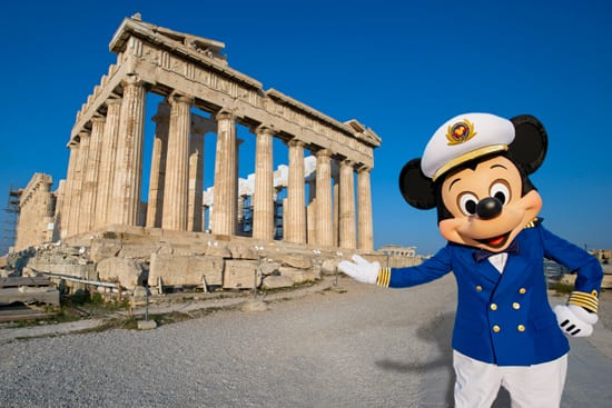 Join Mickey Mouse and Disney Cruise Line in Athens, Greece in 2013