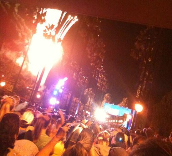 Fireworks for the Inaugural Tinker Bell Half Marathon at the Disneyland Resort