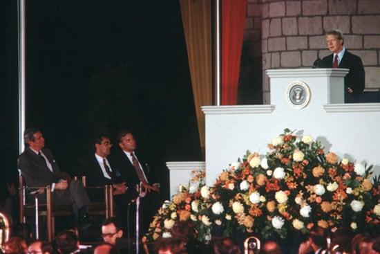 President Jimmy Carter in November 1978, at Magic Kingdom Park