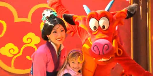 Celebrate the Lunar New Year with Mulan, Mushu and Other Disney Characters at Disneyland Park
