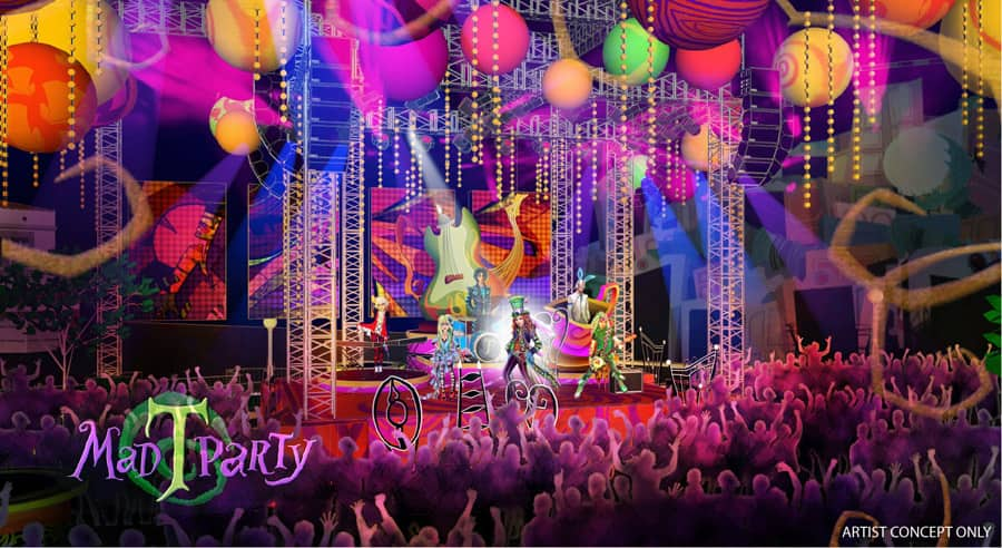 81c698cc8 Artist Rendering of the Mad T Party Coming to Disney California Adventure  Park in Summer 2012