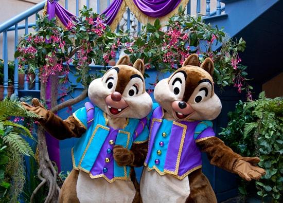 Chip 'n' Dale Celebrate the New Orleans Bayou Bash at Disneyland Park