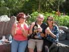 Having a Dole Whip with friends.