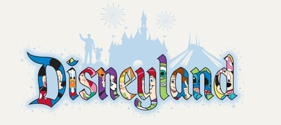 Disneyland Name Filled with Disney Characters