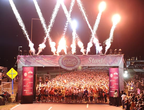 (FEB. 26, 2012):  Fireworks light up the early morning sky Feb. 26, 2012, to mark the start of fourth annual Disney's Princess Half Marathon in Lake Buena Vista, Fla. Sunday's 13.1-mile event took athletes through Walt Disney World Resort, including routes in the Magic Kingdom and Epcot theme parks. A record 27,000 athletes took part in a variety of Princess Half Marathon Weekend events, including a 5K race and a Health and Fitness Expo at ESPN Wide World of Sports Complex. Disney's Princess Half Marathon is part of the 'runDisney' series of endurance events that take place throughout the year at both Disneyland Resort in California and Walt Disney World Resort in Florida. (Preston Mack, photographer)