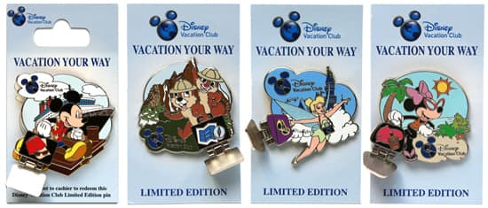 New Disney Vacation Club-Themed Pins from Disney Theme Park Merchandise