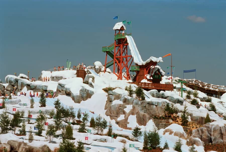 Vintage Walt Disney World Hitting The Slopes At Blizzard Beach