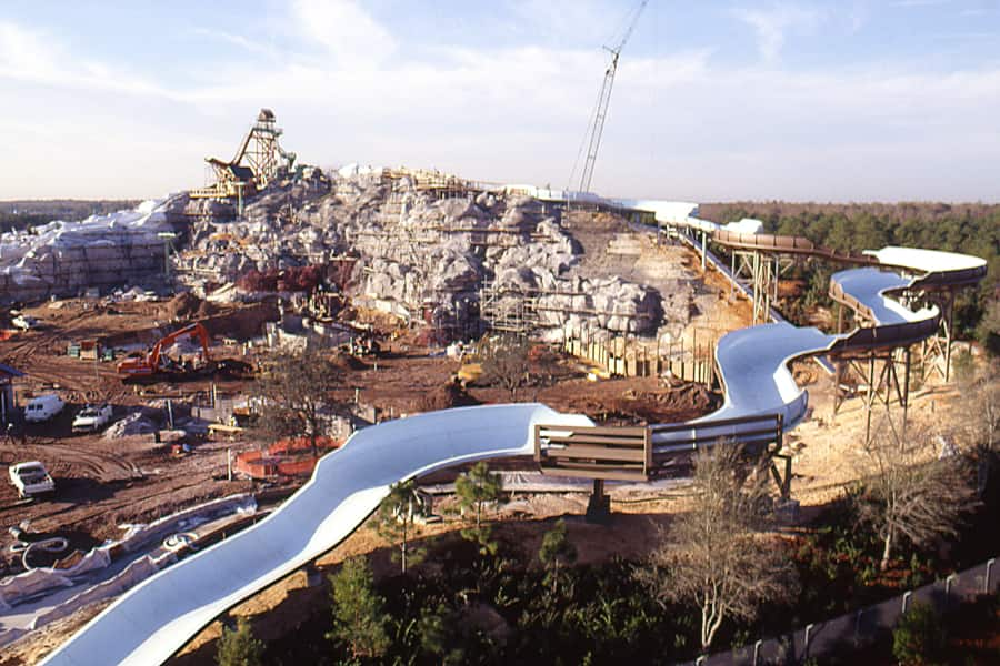 Summit Plummet Takes Shape At Disney S Blizzard Beach Water Park In 1994