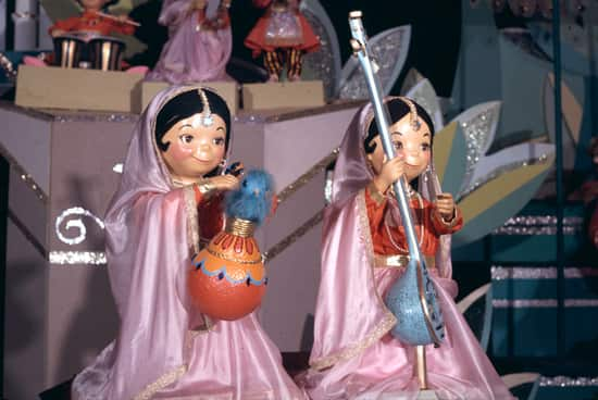 Dolls on the 'it's a small world' Attraction at Disneyland Park Designed by Disney Legends Alice Davis and Mary Blair
