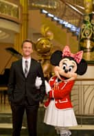 Neil Patrick Harris with Minnie Mouse on the Disney Fantasy
