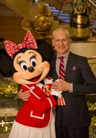Tim Gunn with Minnie Mouse on the Disney Fantasy