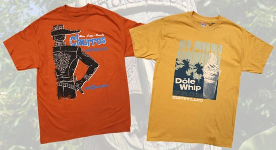 The Dole Whip and Churro Shirts at Disney Parks