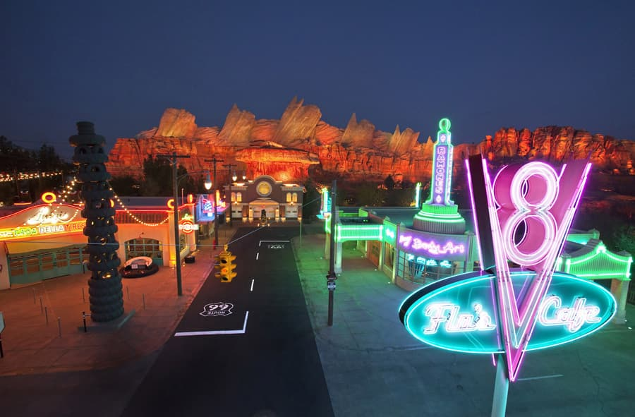 New Photos: Cars Land in Disney California Adventure Park, Day and Night | Disney Parks Blog
