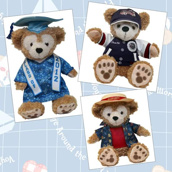 12-inch Duffy the Disney Bear Pre-dressed Bears Include a New 2012 Graduation Bear