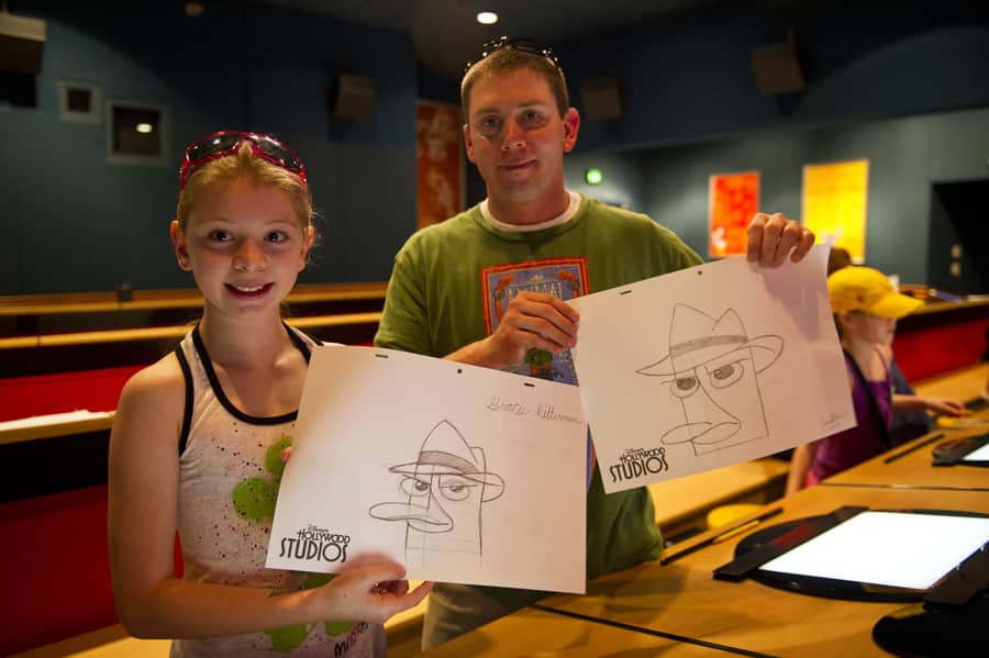 Learn To Draw Phineas And Ferb At The Magic Of Disney Animation At Disney S Hollywood Studios Disney Parks Blog