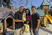 The Morales Family with 'My Yard Goes Disney' Host Brandon Johnson