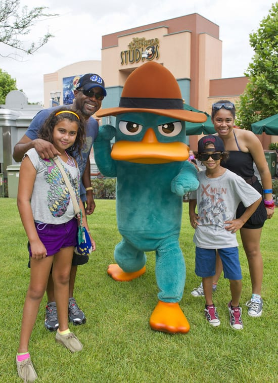 Country Music Singer Darius Rucker at Disney's Hollywood Studios with Agent P and His Family