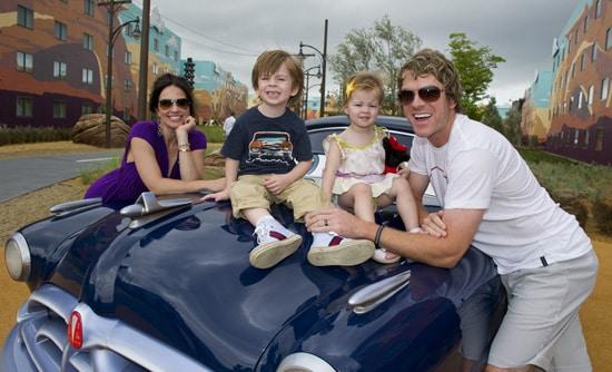 Joe Don Rooney of Rascal Flatts at Disney's Art of Animation Resort with His Family